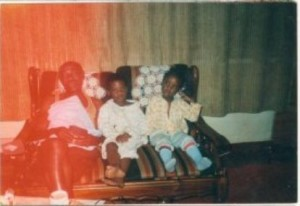 Pa, his girl and his 2 boys